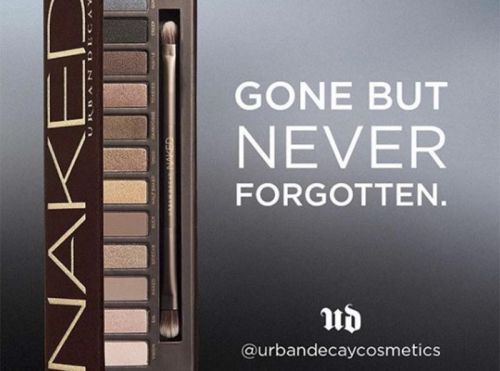 Alerte:  Urban Decay annonce l'arrêt de la production de l'iconique palette Naked