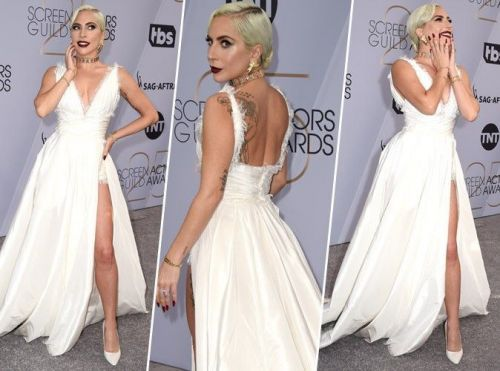Lady Gaga:  sublime en robe Dior Haute Couture aux SAG Awards