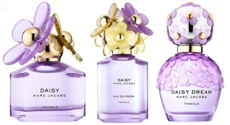 Marc Jacobs Daisy Twinkle, Daisy Eau So Fresh Twinkle & Daisy Dream Twinkle ~ new fragrances