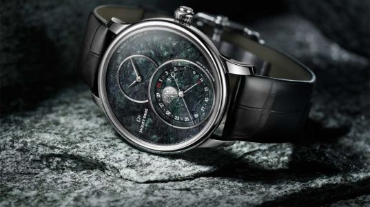 La Grande Seconde Moon Swiss Serpentinite, une montre de Jaquet Droz