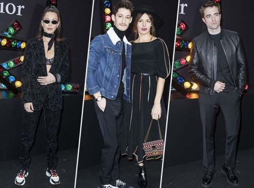 Paris Fashion Week:  Bella Hadid, Pierre Niney, Robert Pattinson. pluie de stars au défilé Dior Homme