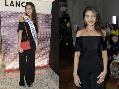 PHOTOS. Vaimalama Chaves:  Miss France 2019 enchaîne les apparitions à la Fashion Week de Paris !