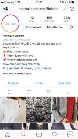 NATHALIE CHAIZE- THE NEW INSTAGRAM