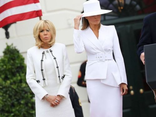 PHOTOS. Melania Trump vs Brigitte Macron:  le match des looks entre les deux First Lady