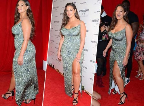 Ashley Graham:  On shoppe sa robe imprimé animal en moins cher !