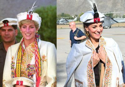 Lady Di - Kate Middleton au Pakistan:  les ressemblances entre la mère et la femme du prince William