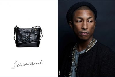 Pharell Williams, premier Homme dans une campagne de sac à main CHANEL