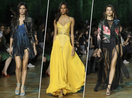Paris Fashion Week:  Sara Sampaio, Cindy Bruna, Georgia Fowler. Reines du catwalk chez Elie Saab
