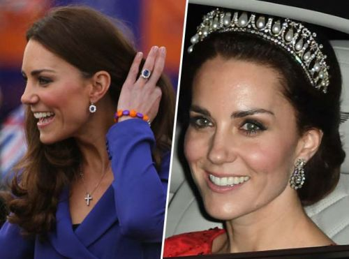 Public Royalty:  Kate Middleton pèse un million d'euros. en bijoux !