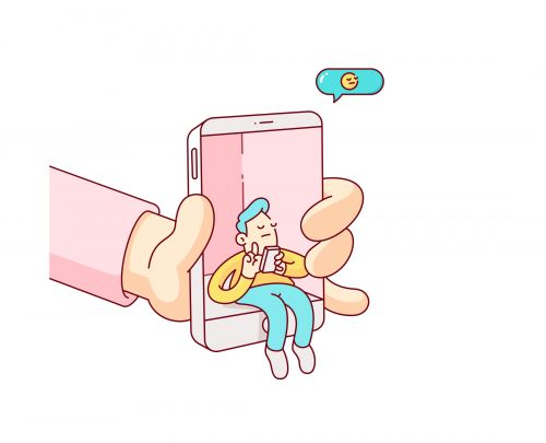 Cheeky Illustrations of Our Relationship with Social Media