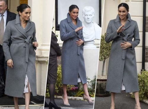Meghan Markle:  on a trouvé 5 alternatives parfaites à son joli long manteau gris