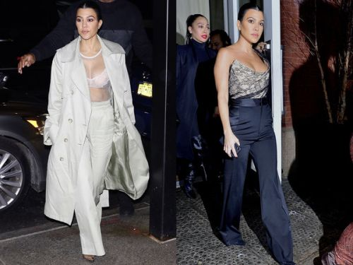 PHOTOS. Kourtney Kardashian:  quatre tenues en une journée