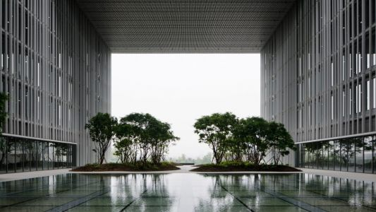 Hanging Garden into the Amorepacific Headquarter
