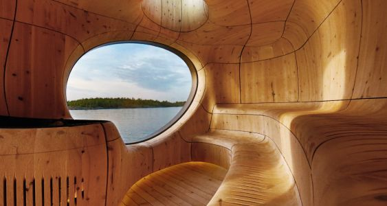 Gorgeous Canadian Grotto Sauna