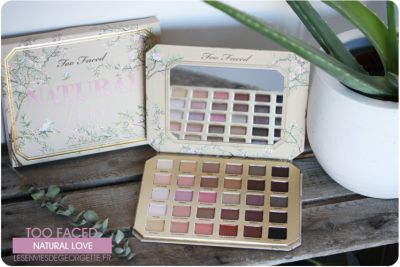 Palette Natural Love de Too Faced swatch