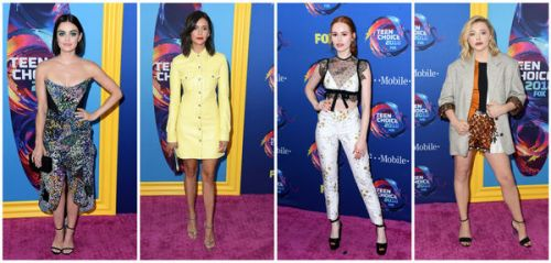 Lucy Hale, Madelaine Petsch, Nina Dobrev. les plus beaux looks des Teen Choice Awards 2018