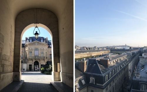 Sur les toits de Paris au grand Hôtel du Palais Royal