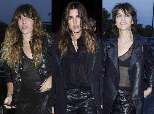 Fashion Week:  les stars osent la transparence au défilé Saint Laurent !