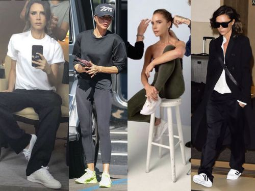 PHOTOS. Victoria Beckham est folle de baskets ! La preuve en images