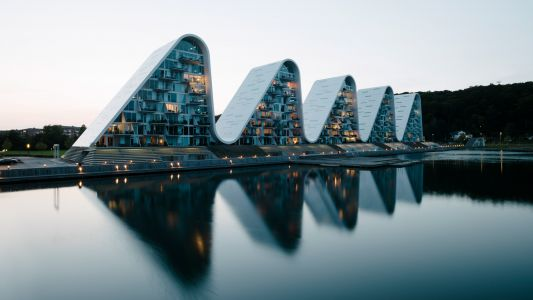 Amazing Views from these Wave-Shaped Apartment Buildings in Denmark