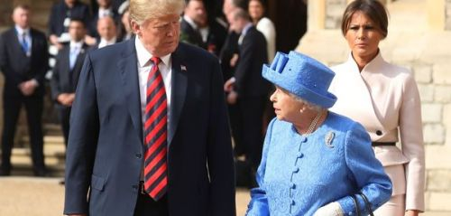 Donald Trump:  son impair face à Elizabeth II