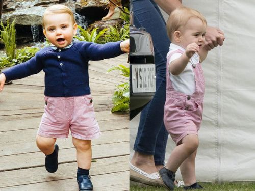 PHOTOS. Quand le prince Louis pique le look de son grand frère, le prince George