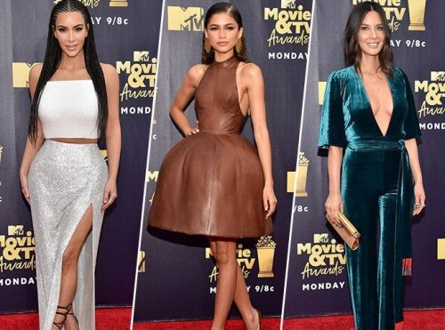 Kim Kardashian, Zendaya, Olivia Munn. pluie de stars aux MTV Movie Awards 2018