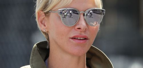 PHOTOS. Charlene de Monaco, canon en combinaison verte au Grand Prix de Formule 1 de Monaco